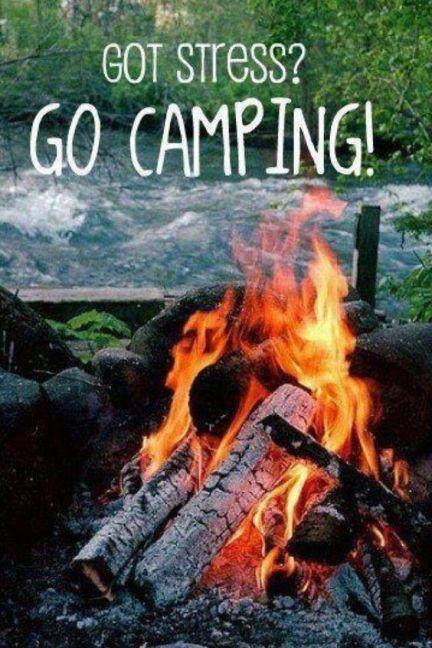 got stress go camping