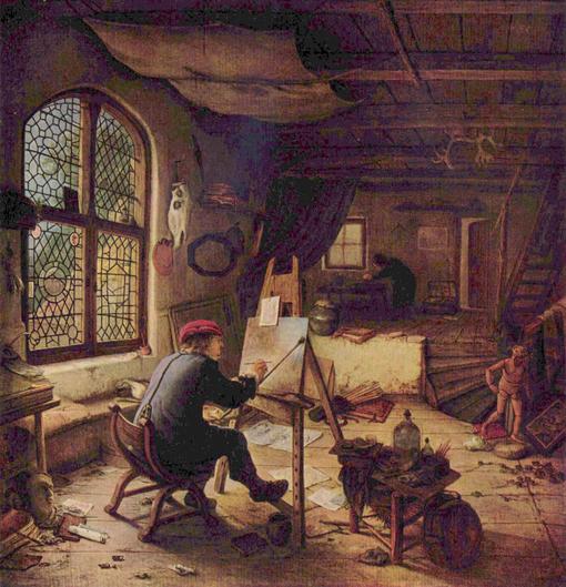 l'atelier du peintre - adriaen van Ostade